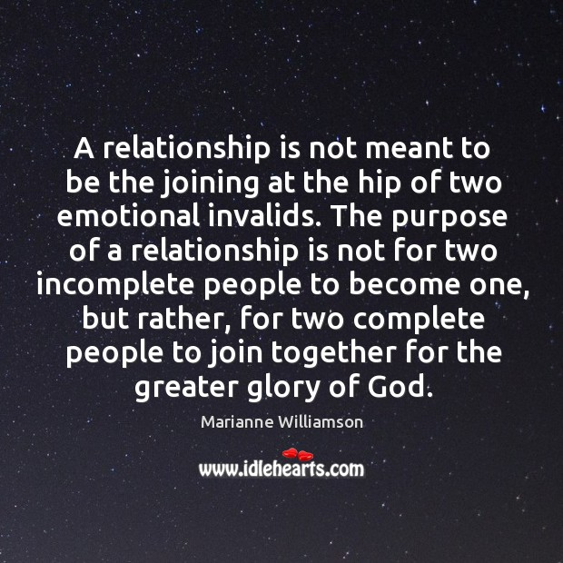 A relationship is not meant to be the joining at the hip Image