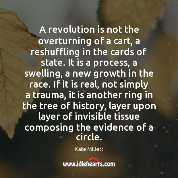 Image, A revolution is not the overturning of a cart, a reshuffling in