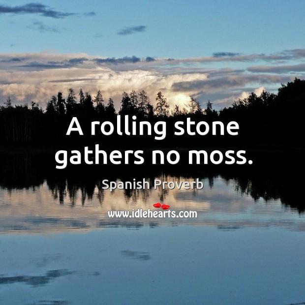 Image, A rolling stone gathers no moss.