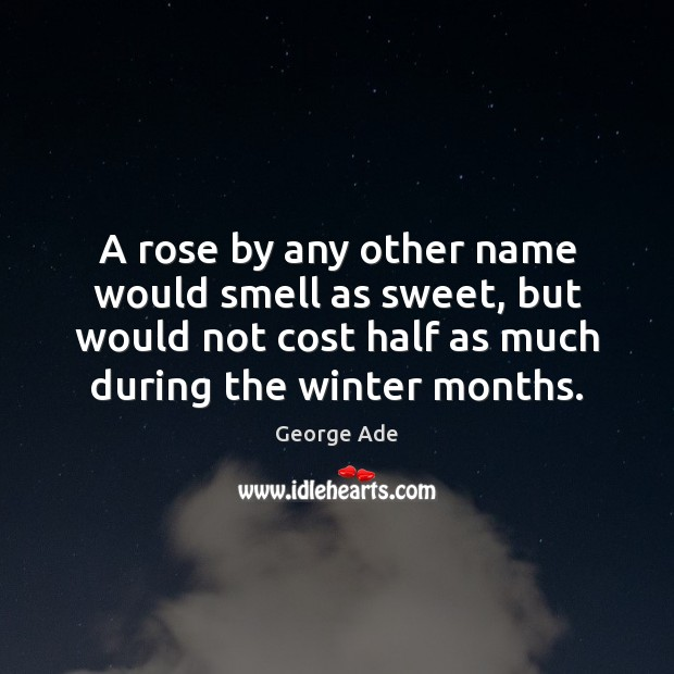A rose by any other name would smell as sweet, but would Winter Quotes Image