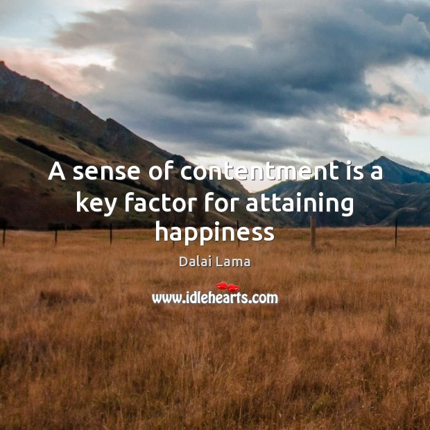 Image, A sense of contentment is a key factor for attaining happiness