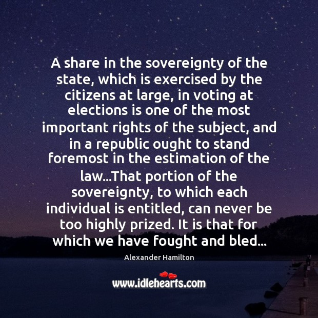 Image, A share in the sovereignty of the state, which is exercised by