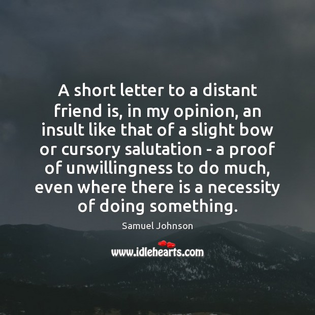 Image, A short letter to a distant friend is, in my opinion, an