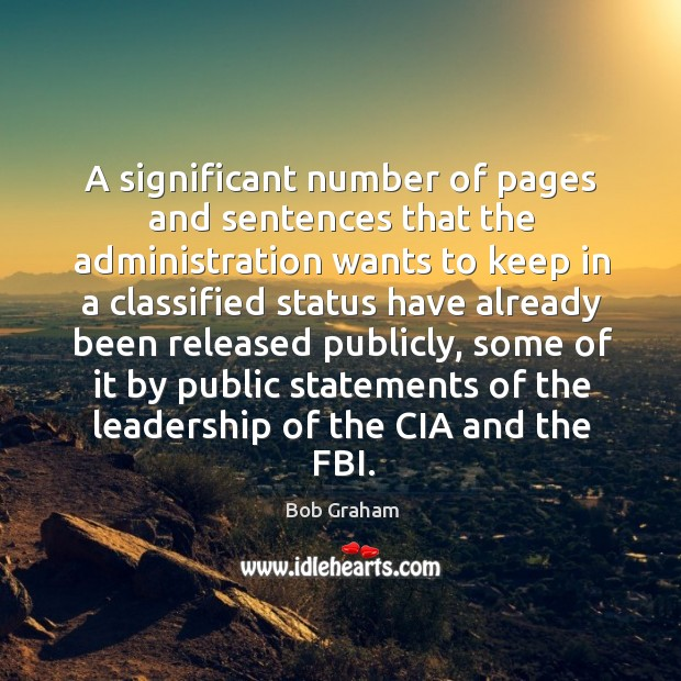 Image, A significant number of pages and sentences that the administration wants to keep in a