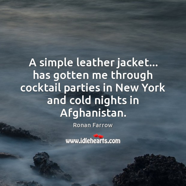 A simple leather jacket… has gotten me through cocktail parties in New Image