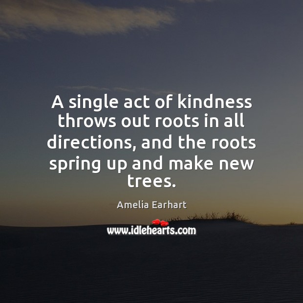 Image, A single act of kindness throws out roots in all directions, and