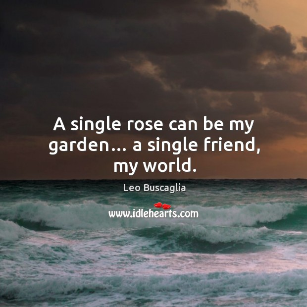 Image, A single rose can be my garden… a single friend, my world.