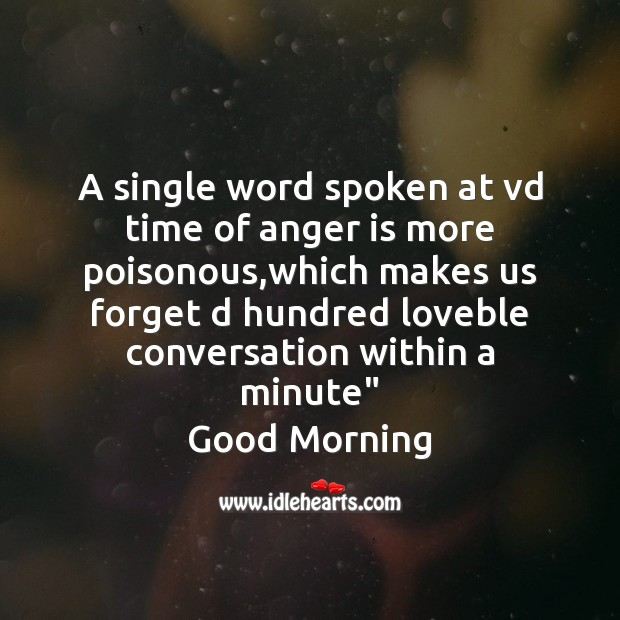 A single word spoken Good Morning Messages Image