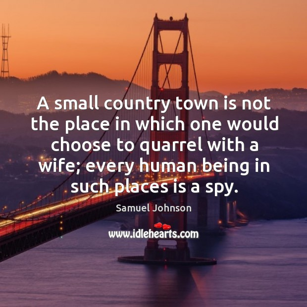 Image, A small country town is not the place in which one would