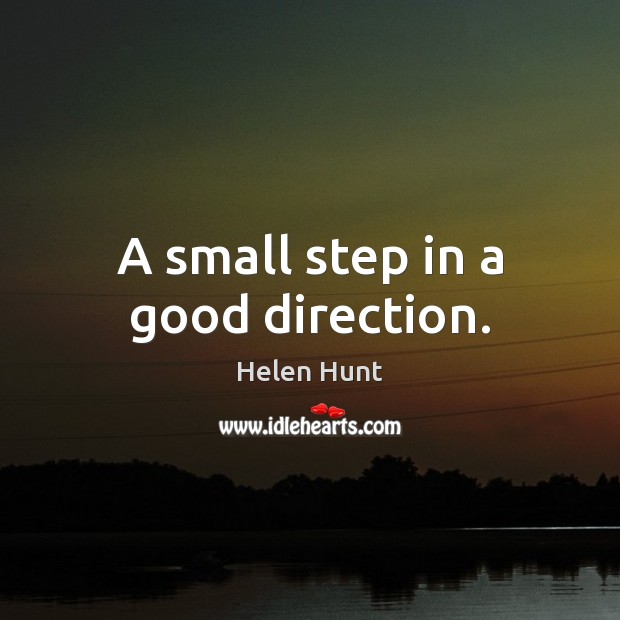 A small step in a good direction. Image