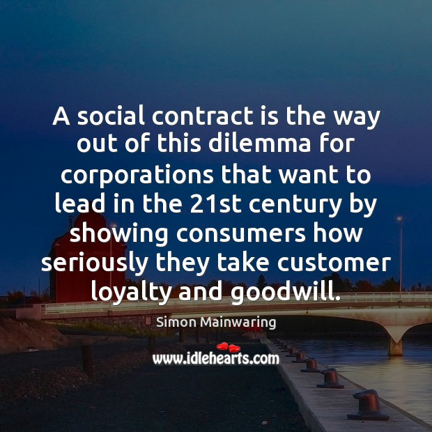 Image, A social contract is the way out of this dilemma for corporations