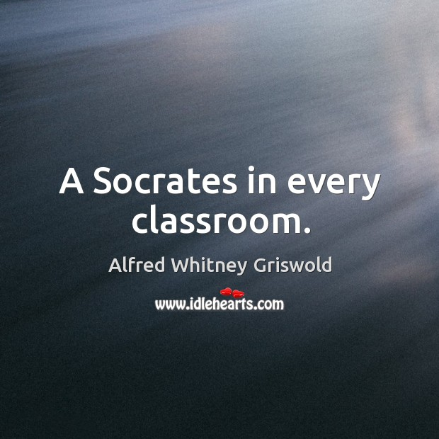 A socrates in every classroom. Image