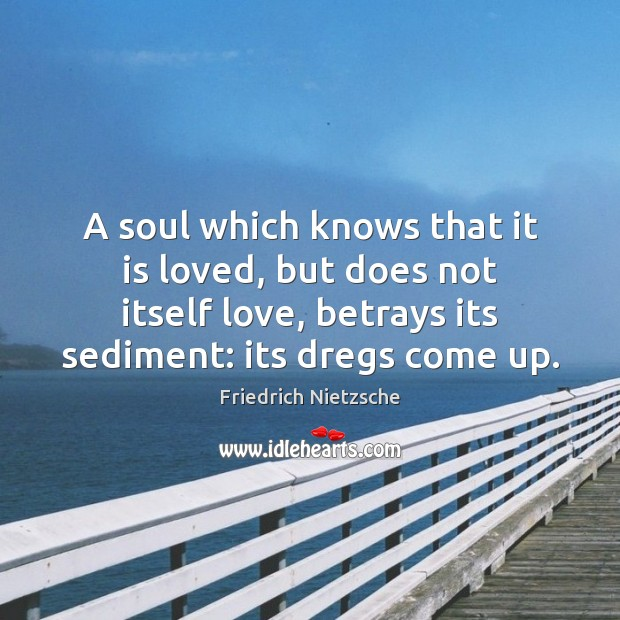 A soul which knows that it is loved, but does not itself Image