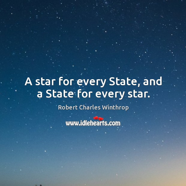 A star for every state, and a state for every star. Image