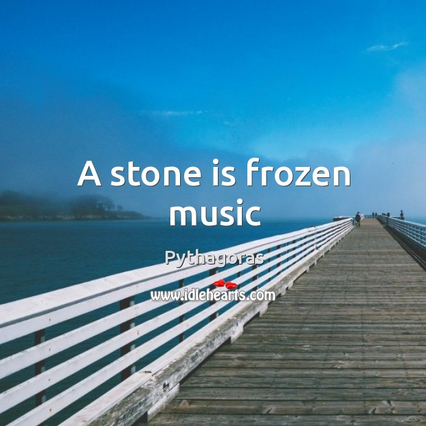 Image, A stone is frozen music