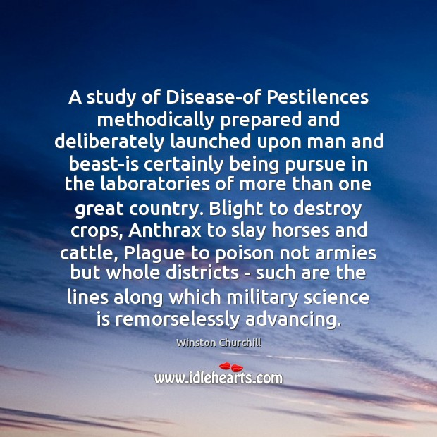 A study of Disease-of Pestilences methodically prepared and deliberately launched upon man Image