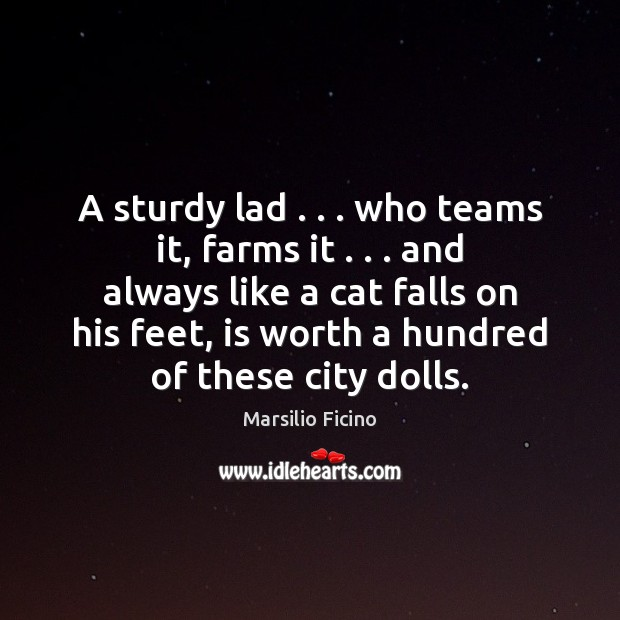 A sturdy lad . . . who teams it, farms it . . . and always like a Image