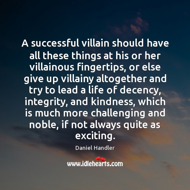 Image, A successful villain should have all these things at his or her