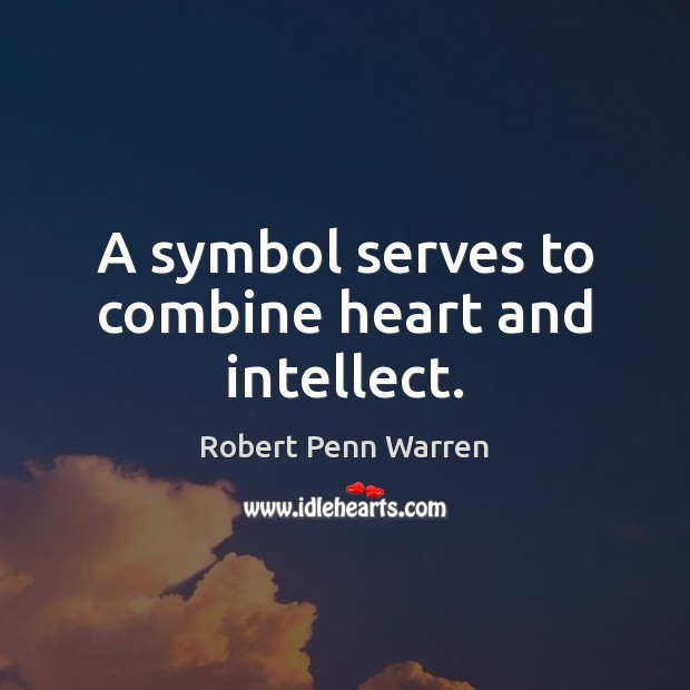 A symbol serves to combine heart and intellect. Image