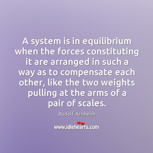 A system is in equilibrium when the forces constituting it are arranged Image