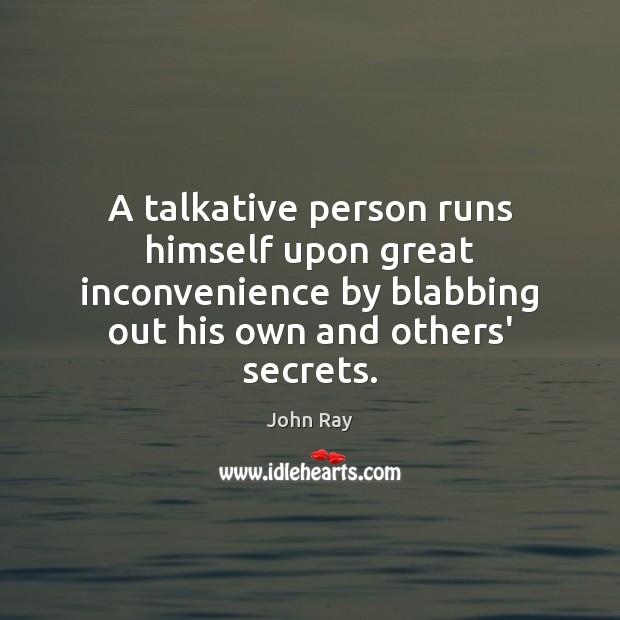 a talkative person