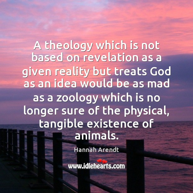 A theology which is not based on revelation as a given reality Image