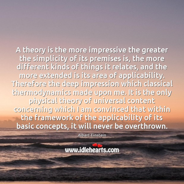 Image, A theory is the more impressive the greater the simplicity of its