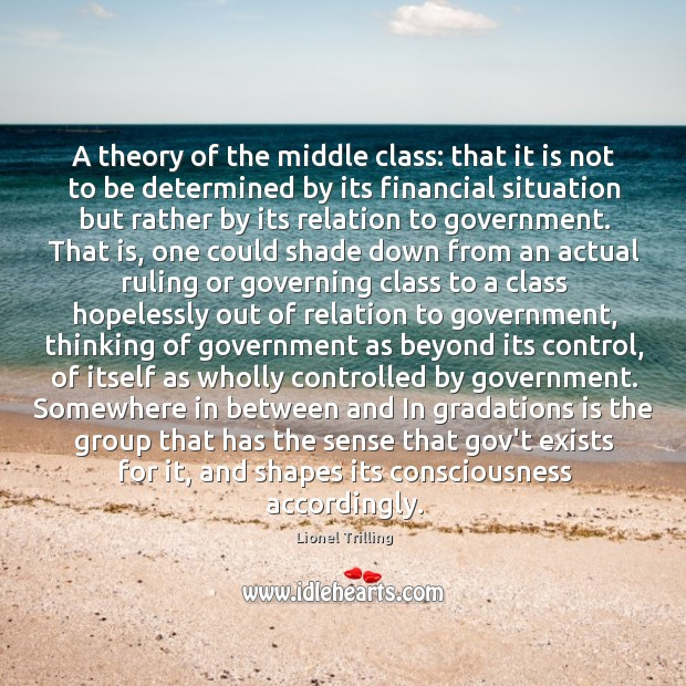 A theory of the middle class: that it is not to be Image