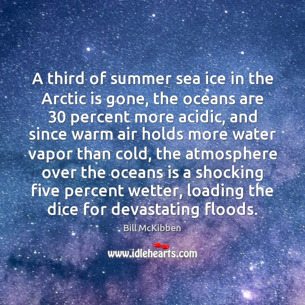 A third of summer sea ice in the Arctic is gone, the Bill McKibben Picture Quote