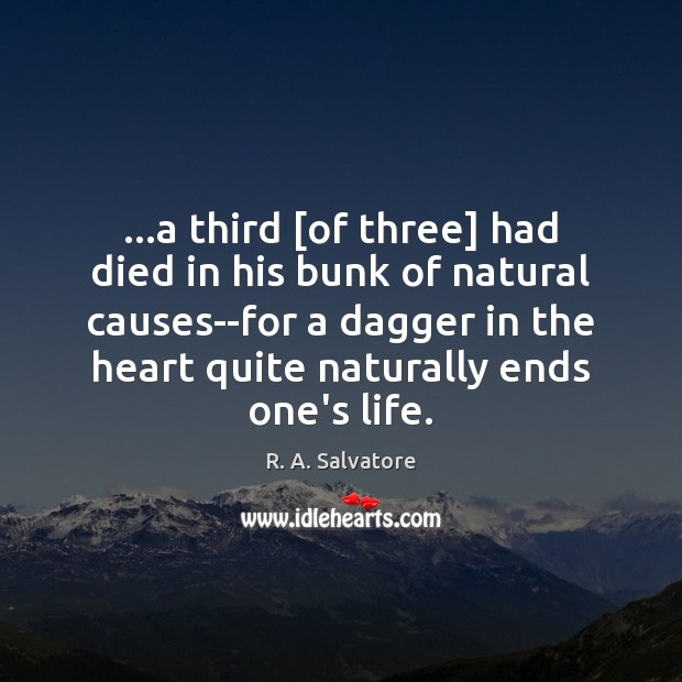 …a third [of three] had died in his bunk of natural causes–for Image