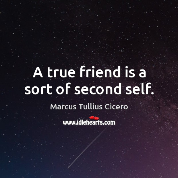 Image about A true friend is a sort of second self.