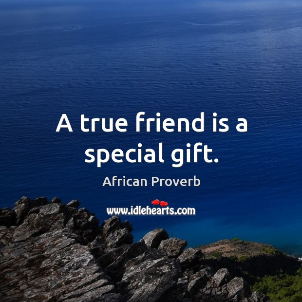 Image about A true friend is a special gift.