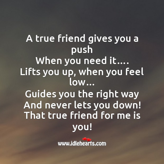 Image, A true friend lifts you up, when you feel low