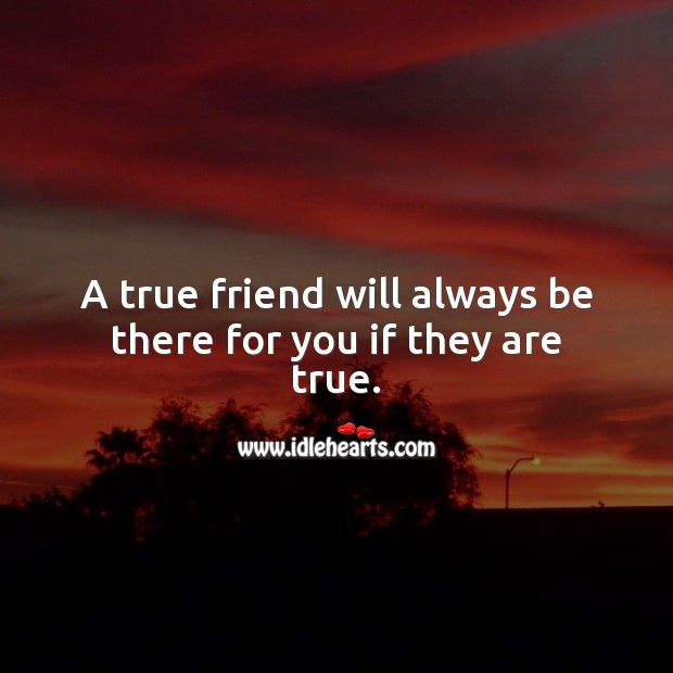 Image, A true friend will always be there for you if they are true.