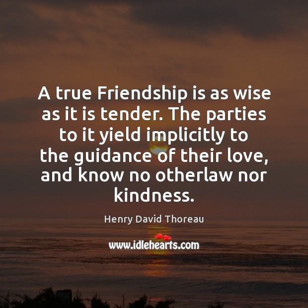 Image about A true Friendship is as wise as it is tender. The parties