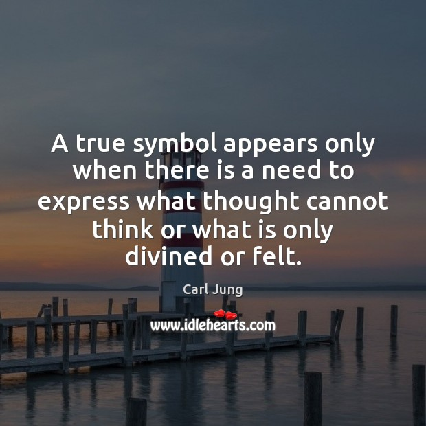 A true symbol appears only when there is a need to express Image