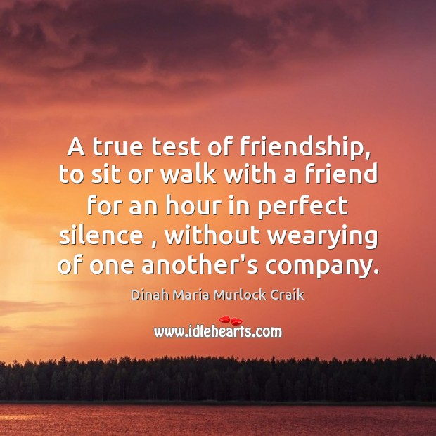A true test of friendship, to sit or walk with a friend Image