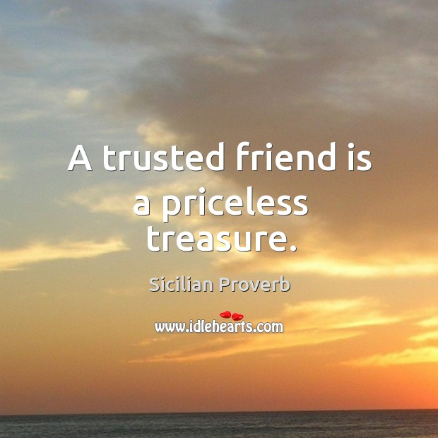 Image about A trusted friend is a priceless treasure.