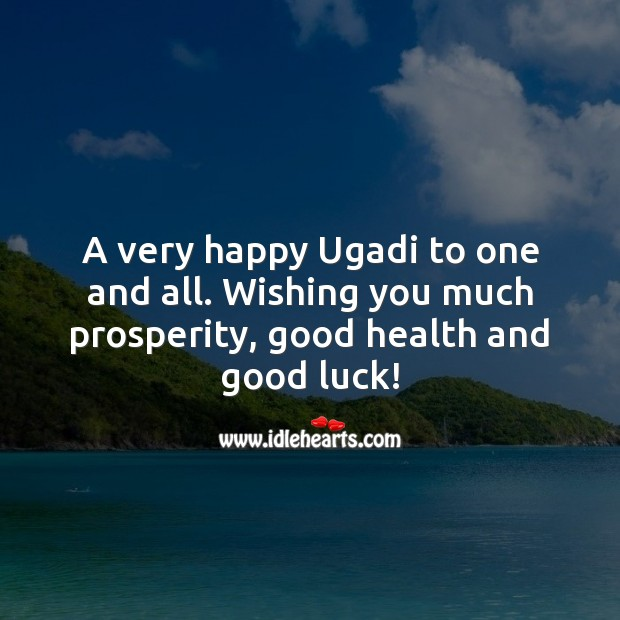 Image, A very happy Ugadi to one and all.