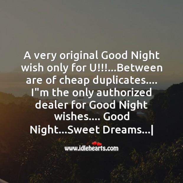 A very original good night Image
