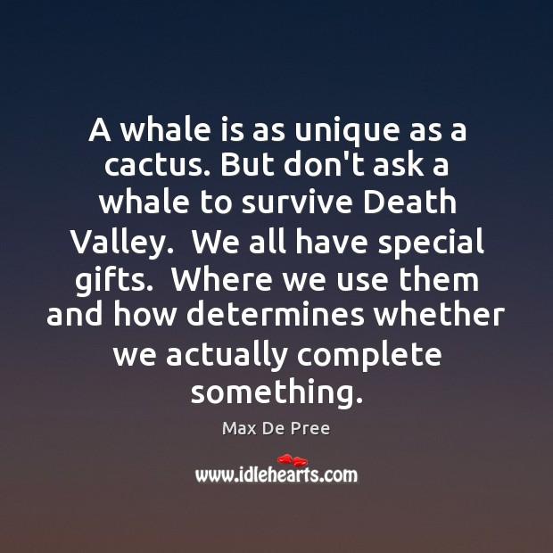 Image, A whale is as unique as a cactus. But don't ask a