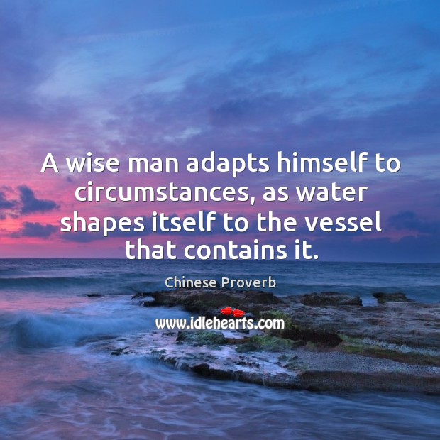 A wise man adapts himself to circumstances. Image