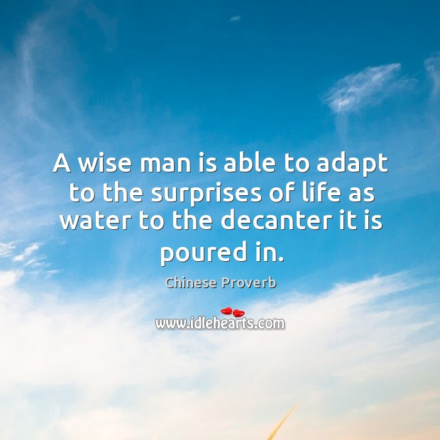 A wise man is able to adapt to the surprises of life Image
