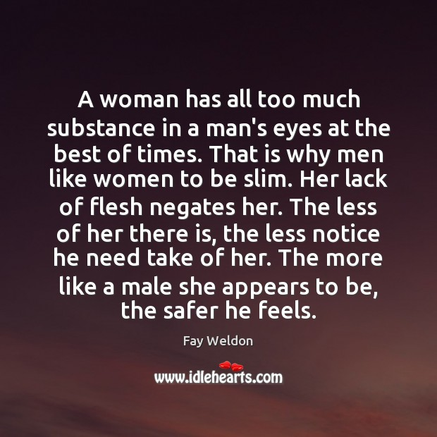 A woman has all too much substance in a man's eyes at Image