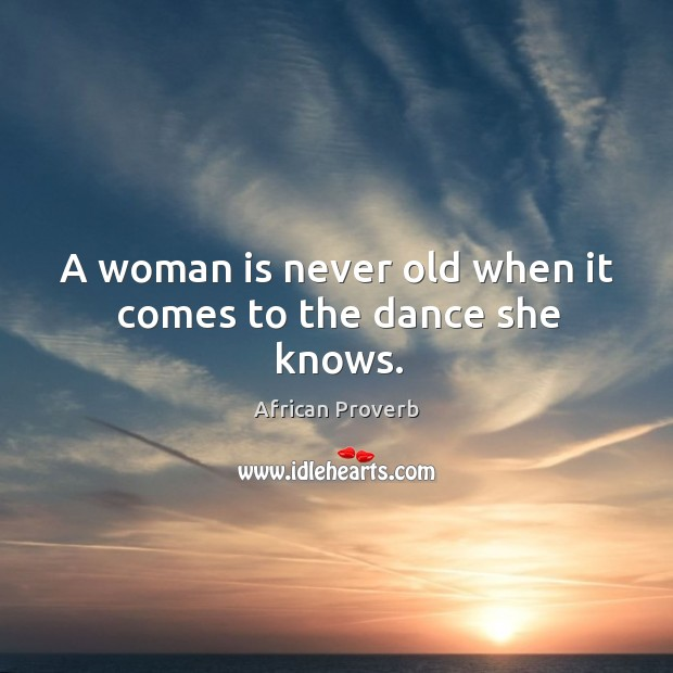 Image, A woman is never old when it comes to the dance she knows.