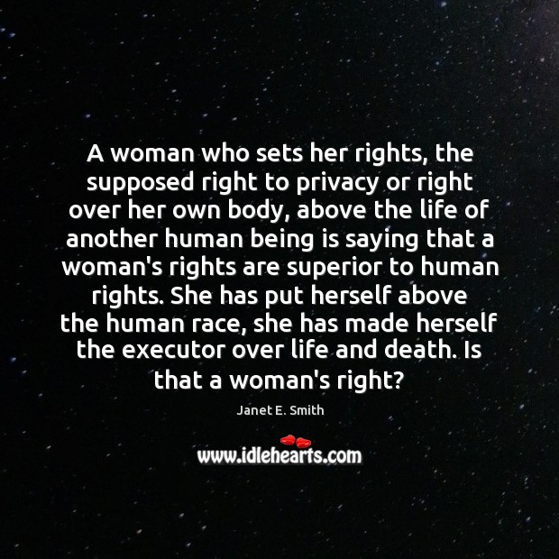 A woman who sets her rights, the supposed right to privacy or Image