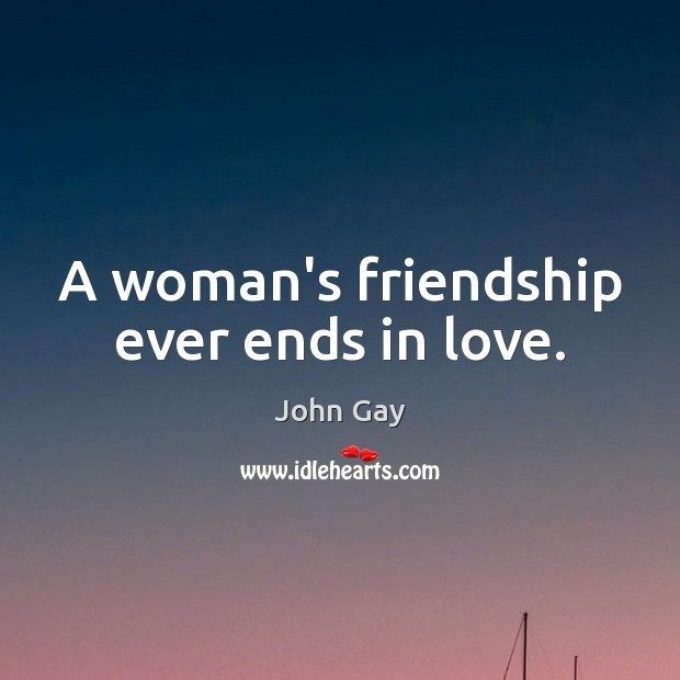 A woman's friendship ever ends in love. Image