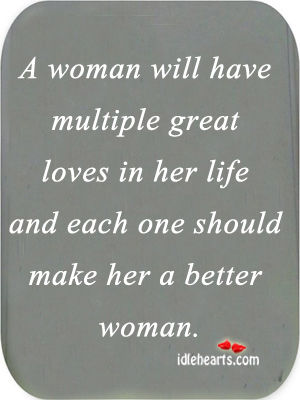Image, A woman will have multiple great loves in her