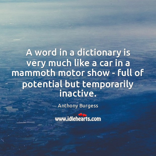 Image, A word in a dictionary is very much like a car in