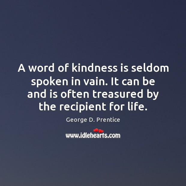 A word of kindness is seldom spoken in vain. It can be Kindness Quotes Image